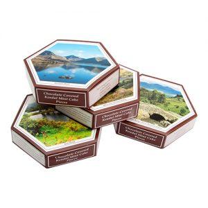 Vegetarians and Vegan Chocolate Hexagonal Gift Boxes
