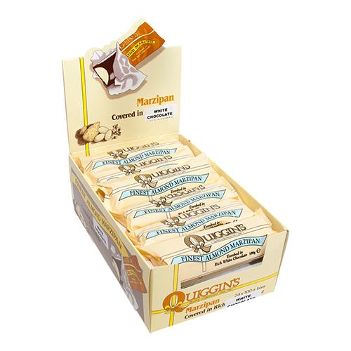 White Chocolate Covered Marzipan Bars